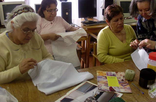 Tayloring classes and handicrafts