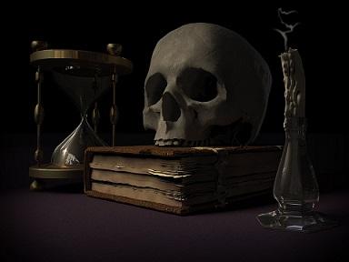 muerte calavera libros mal pixabay