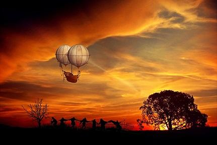 globo atardecer amanecer pixabay
