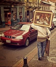 Ecuador hombre calle escena pixabay