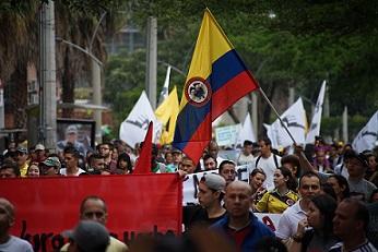 Huber colombia manifestacion protesta pixabay