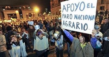 Huber marcha campesina paro agrario colombia foto Prensa Rural