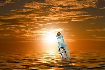 mares agua ecolog botella mensaje pixabay