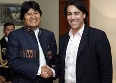 Marco con Pdte. Evo Morales_