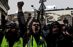 The yellow vests bring their non-violent action to the UK