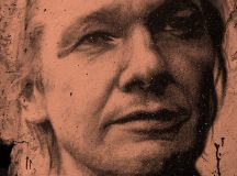 Julian Assange painted portrait - Wikileaks by Thierry Ehrmann Flickr. Portait painted of Julian Assange wikileaks at the Abode of Chaos  Wall-paint by Thomas Foucher @ the Abode of Chaos  Tribute #1 to Julian Assange  (Creative Commons Paternity) original version free on Flickr 2592 x 3872