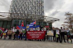 London protest against the illegal blockade of Cuba